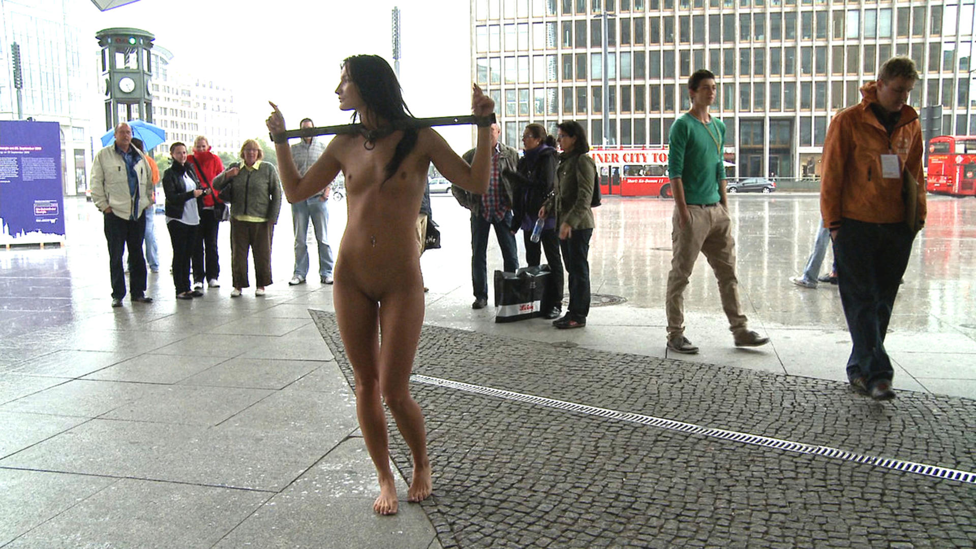 public handcuffed in Naked girls