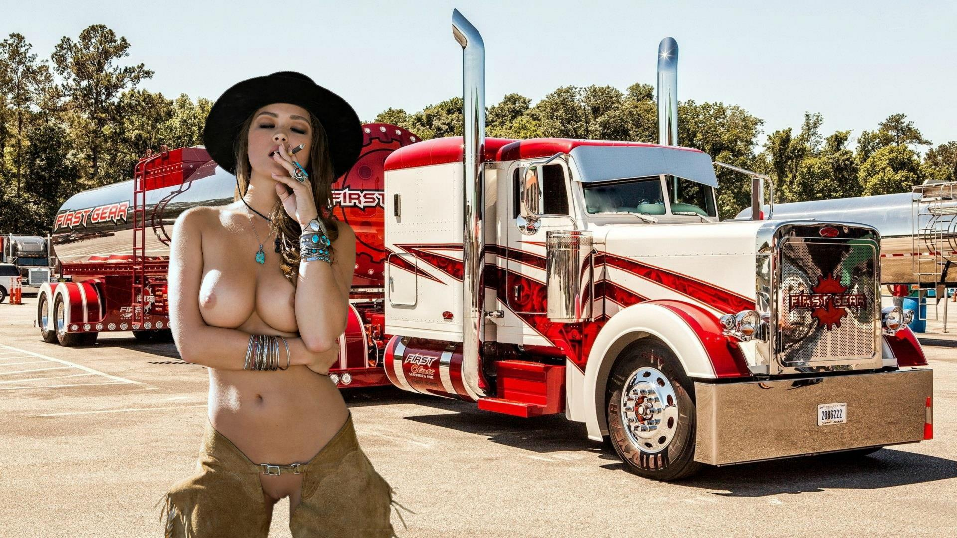 Think, that Naked big rig girls apologise, but