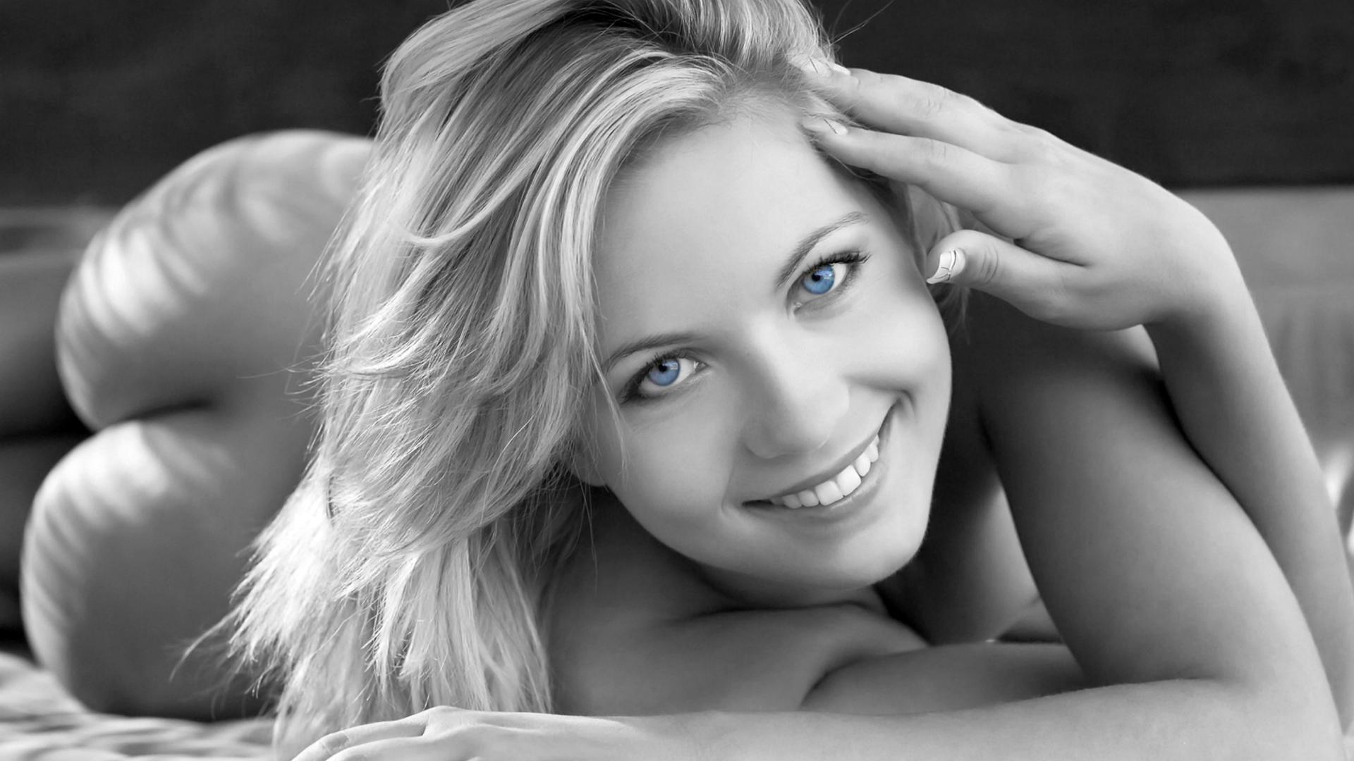 Download photo 1920x1080, jenni gregg, blonde, blue eyes